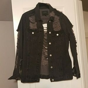 Miss London Distress denim jacket NWOT